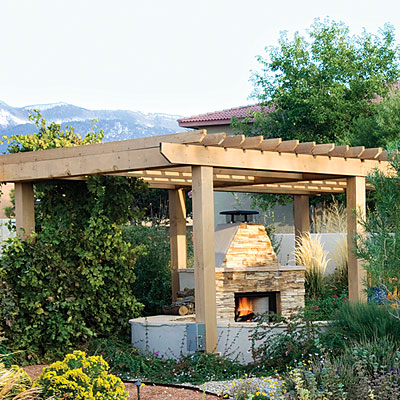 Outdoor patio ideas patio ideas patio covers place for Southwest pergola