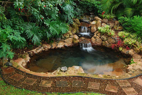 Backyard Waterfalls Backyard Waterfall Design Patio Covers Place