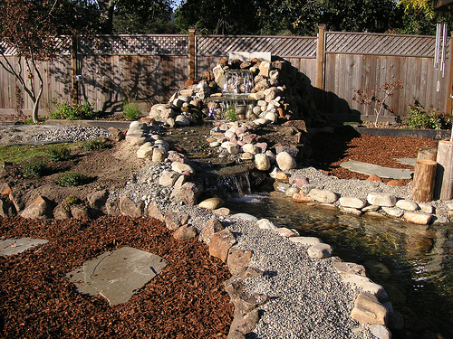 Backyard Waterfalls Backyard Waterfall Design Patio